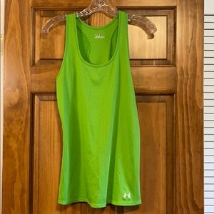 Lime Green Under Armour heat gear tank top